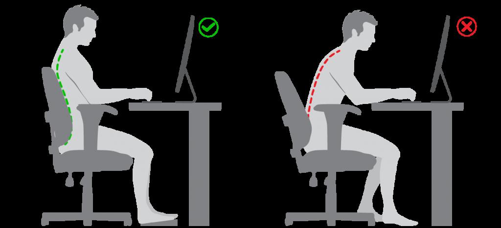Ajuste ergonômico do monitor