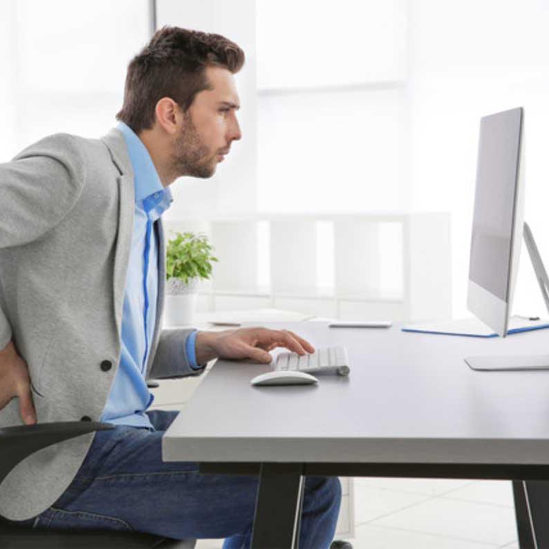Postura no trabalho sentado